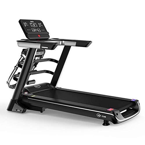 Cinta de correr eléctrica plegable XFGG, cinta de correr eléctrica, pantalla a color, diseño silencioso, amortiguación equilibrada de 8,0 km/h, instalación portátil, deporte familiar, fitness