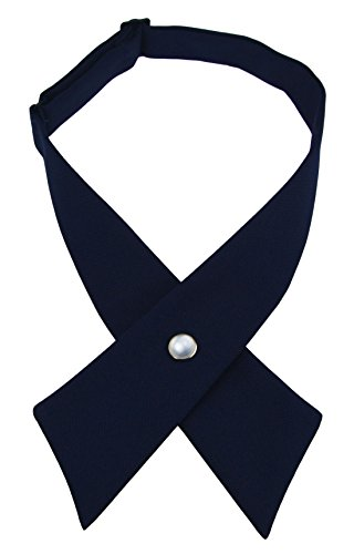 SISIDI Girls' Criss-Cross Tie/Girls' School Uniform Cross Tie By French Toast - Various Colors (navy blue)