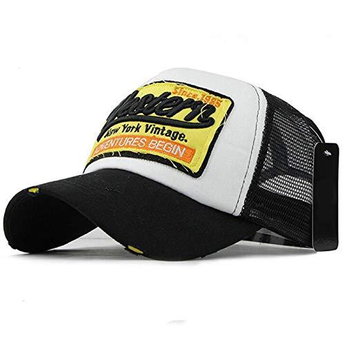 2020 Gorra de béisbol con Cola de Caballo Gorra de Camionero con Bordado de Malla de sombrilla Ajustable para Hombres