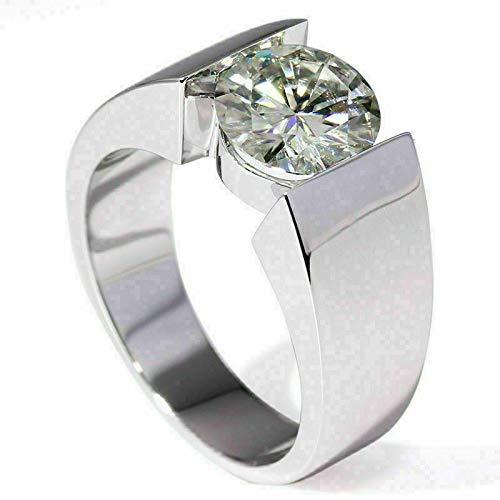 Sfl Vintage oro giallo 14 carati sopra Mens 1.00 ct taglio rotondo diamante solitario Pinky anello