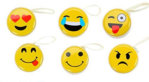 """Cajita Metálica""""Emoticonos"""" - Ideal cómo Monedero y para los Auriculares. Cajas para guardar detalles y regalos, ideal para 1ª Comuniones, celebraciones de fiestas de Cumpleaños"""