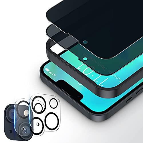 Bewahly Schutzfolie Kompatibel mit iPhone 13 Mini Privacy Panzerglas, 2 Stück Sichtschutz...