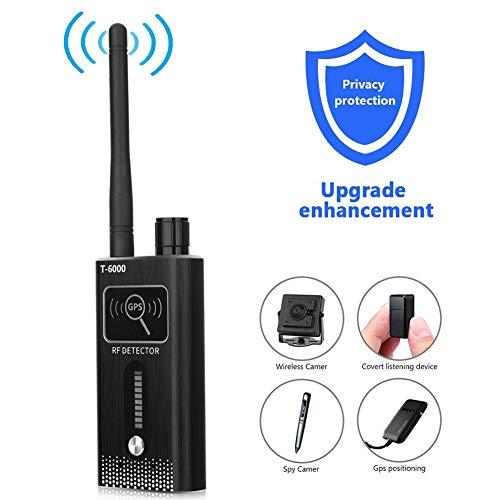 Wiretap GPS Jammer, Signal Blocker Rilevatore di Bug Spia Telecamera Telecamera Nascosta gsm GPS Tracker RF Signal Spy Devices Finder,Nero