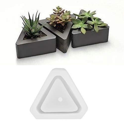 Bloempot siliconenvorm, doe-het-zelf vetculente bloempot vorm geometrische silicone bloempot decoratie gemakkelijk los te maken en te reinigen Driehoek