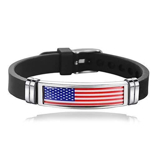 Souvenir Braccialetto Braccialetto Intrecciato Bandiera Silicone Catena Stati Uniti America, Braccialetto Fatto a Mano Moda USA per Uomo e Donna Regal