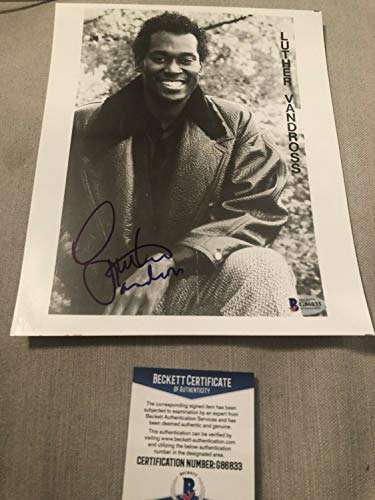 Authentic Autographed Luther Vandross 8x10 Beckett Certified