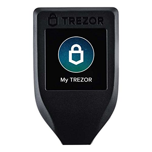 Trezor Model T - Next Generation Cryptocurrency Hardware Wallet with LCD Color Touchscreen and USB-C, Store Your Bitcoin, Ethereum, ERC20, XRP and More with Total Security