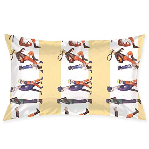 jichuang Pillow Cases Naru-to Throw Cushion Covers Body Pillow Cover for Car Sofa Bed Home Decor 20'x30'