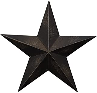 CWI Gifts Barn Star Wall Decor, 18-Inch, Antique Black