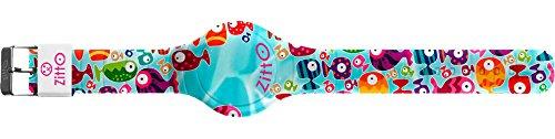 Orologio digitale ZITTO con cinturino in silicone multicolor HAPPYFISH-MINI-FA