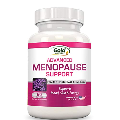 Advanced Menopause Support - Natural Female Hormonal Complex for Hot Flashes, Mood Swings & Vaginal Dryness - Black Cohosh, Soy Isoflavones & Herbal Extract Formula - Does Not Include Hormones