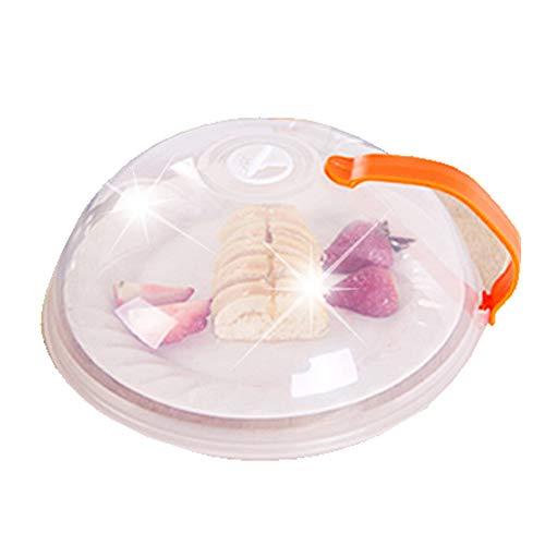 Fellibay Mikrowellen Abdeckhaube mit Lüftungsöffnungen Mikrowellen-Abdeckung für Lebensmittel 26 cm Orange