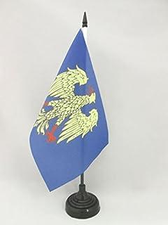 AZ FLAG Bandiera da Tavolo CANTONE di San Gallo 15x15cm Piccola BANDIERINA di San Gallo SG 15 x 15 cm