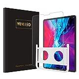 【ガイド枠付き】 Nimaso iPad Pro 12.9 インチ(2020 / 2018)用 強化ガラス液晶保護フィルム 第3/4世代対応