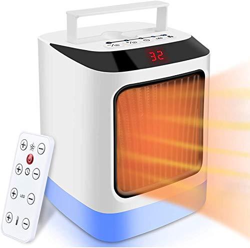 MOOLUNS Calefactor Portátil, Calentador 800w Ventilador, Mini Calentador de cerámica, termostato Ajustable con protección contra sobrecalentamiento, por Ministerio del Interior