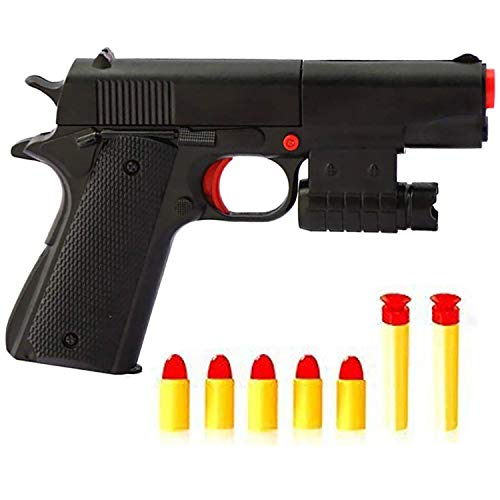 Feisuo Toys Gun Games-Realistic 1:1 Scale Colt M1911A1 Rubber Bullet Pistol Mini Pistols , Slide Action for Training or Play