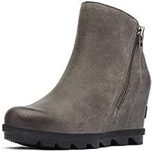 Sorel Women's Joan of Arctic Wedge Boots, Quarry, Grey, 9 Medium US