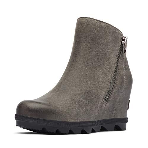 Sorel Women's Joan of Arctic Wedge Boots, Quarry, Grey, 8.5 Medium US