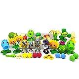 LONG YU Plants vs Zombies 2 Toys PVC Gift Set 17 Pieces for Garden Warfare 2,17 Pieces
