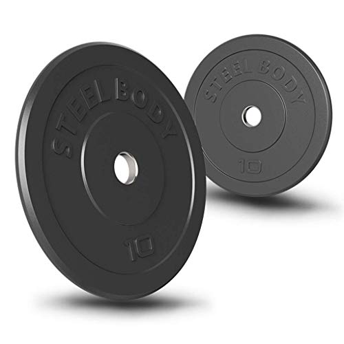 DSHUJC Durable Weight Plates Olympic Bumper Weighted Plate 5cm Barbells, Bars Weight Sets Steel Rubberized Weight with Bumpers Strength Training Barbell Plates