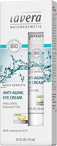 lavera Anti-Falten Augencreme Q10, Malve & Sheabutter, 15ml