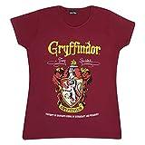 Harry Potter Cresta de Gryffindor de Las Mujeres Camiseta Cabida Borgoña XL
