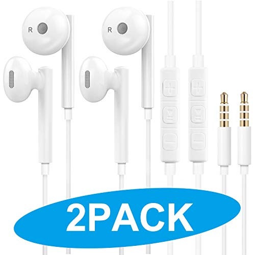 Wired Earbuds Headphones, 3.5mm Jack, Noise Canceling Earphones with Built-in Mic&Volume Control Compatible with all 3.5mm connector devices