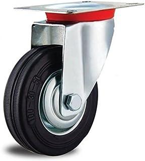 EXCOLO Rol transportwielen massief rubberen banden 200 mm rubber zwart kogellagers (wiel 200 mm)