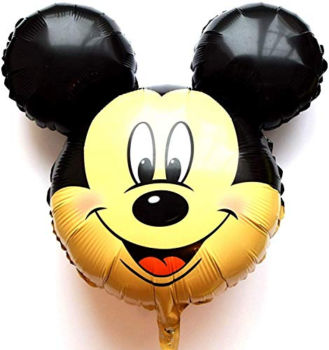 SauParty sin Helio Globo ! Ratón Mickey Cabeza Disney Minnie Globos Cara Regalo, Forma : R35F9 Micky