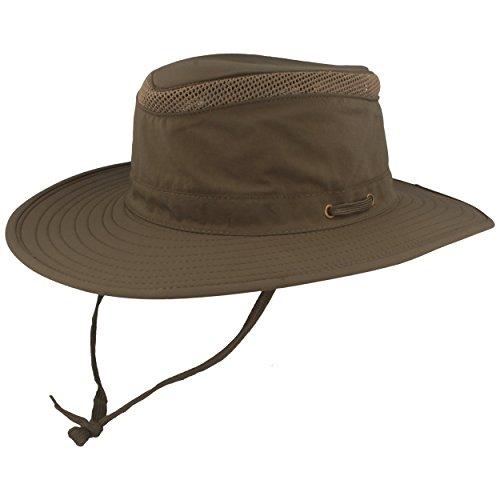 Hut Breiter Safarihut | Buschhut | Sonnenhut – mit UV Schutz 30+ - Atmungsaktiv, leicht & faltbar, mit verstellbarem Kinnband & geheimer Tasche