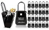 Lion Locks 1500 Key Storage Realtor Lockbox, Set-Your-Own Code Lock Portable Key Holder, Rust-Proof Secure Outdoor Key Safe, Hide-a-Key Safe Box Realtor Lock Box, Airbnb, Construction (24-Pack/Black)