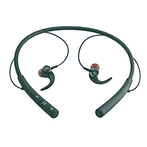 iBall EarWear Base BT 5.0 Neckband Earphone with Mic and 12 Hours Battery Life (Forest Green)