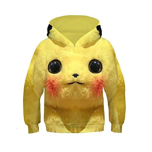 Kinderen Leuke Trui Pikachu Hoodie Anime Geel Casual Lange mouwen Cosplay Meisje