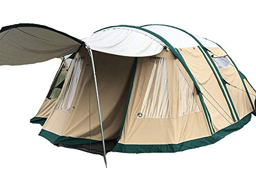 Wildcat Outdoor Gear Premium Family Camping Tent | 100% Waterproof | Sleeps 4-10+| Sets Up in Minutes| Loaded with Features | Bobcat 500