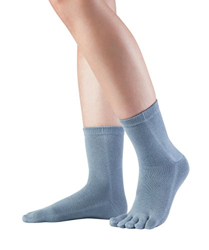 Knitido Essentials Midi, halb hohe Zehensocken aus 85% Baumwolle, für jeden Tag, für Damen und Herren, Größe:43-46, Farbe:Bluegrey (855)