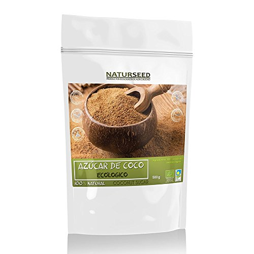 Naturseed Azucar De Coco - 100% Puro y Ecológico - Apto Para Diabéticos Con Un IG 35 - El Edulcorante Más Sano y Nutritivo - Sin aditivos Ni Conservantes - Ebook Pdf De Regalo Con Recetas. (500GR)