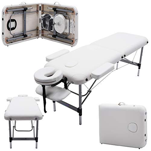 Massage Imperial Knightsbridge -Table de massage Portable pro luxe - Aluminum - 2 Zones - Couleur :...