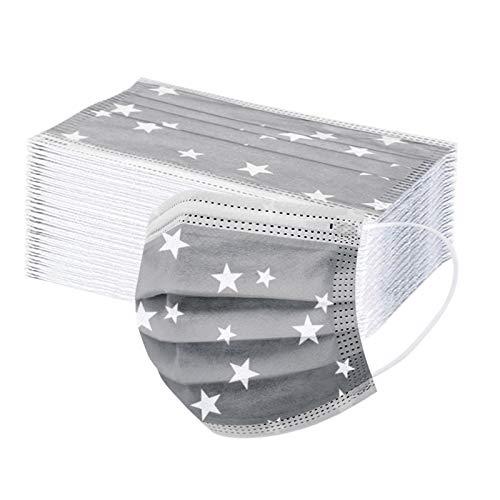 Generic 50 Stück Einmal-Mundschutz, Staubs-chutz Atmungsaktive Drucken Mundbedeckung, Erwachsene, Bandana Mund und Nasenschutz Halstuch Schlauchschal (A4)