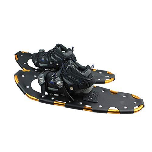 HE-XSHDTT Chaussures de Marche dans la Neige, Cuir PU résistant au Froid de 26 Pouces + Cadre en Aluminium, Mini-Chaussures de Snowboard Patins à Neige Portables Chaussures de traîneau