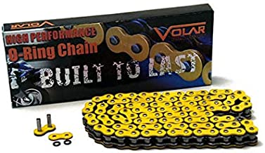 yellow motorcycle chain