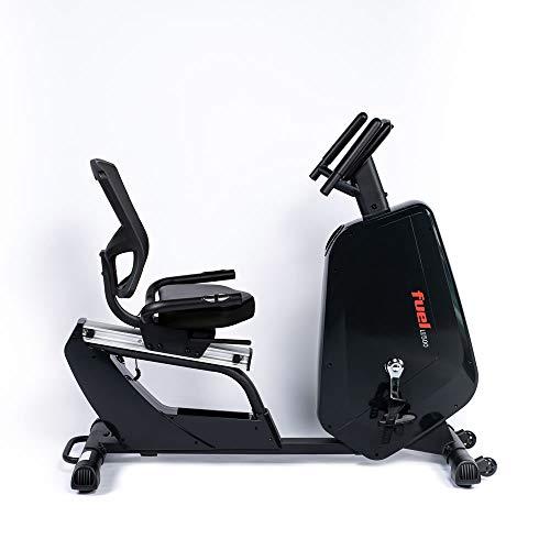 Fuel Fitness LE500 Liegeergometer, Fahrradtrainer mit Rückenlehne für zuhause, Nutzergewicht bis 130kg, 7kg-Schwungrad, 15 Trainingsprogramme, KINOMAP-kompatibel