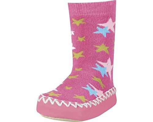 Playshoes Zapatillas con Suela Antideslizante Estrellas, Pantuflas Unisex niños, Rosa (Pink 18), 27/30 EU
