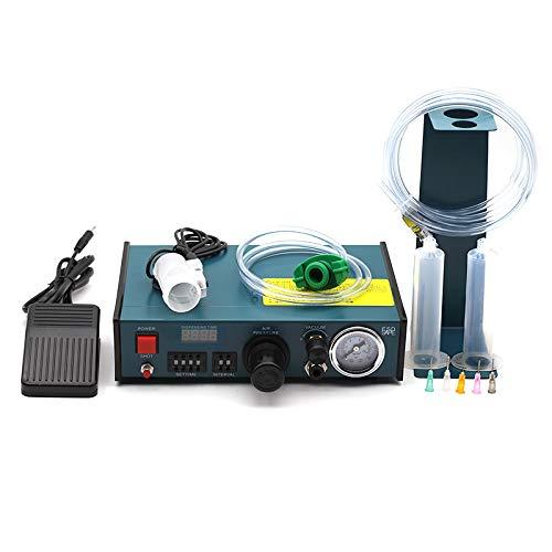 Riiai Dispensador de pegamento automático digital, 983A profesional de precisión de soldadura de pasta de líquido controlador de pegamento gotero líquido dispensador herramientas