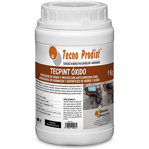 TECPINT OXIDO de Tecno Prodist - 1 Litro - Pasivador de óxido al agua - protección anticorrosiva para armaduras – convertidor y transformador de oxido para superficies de hierro y acero