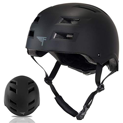 Flybar Dual Certified CPSC Multi Sport Kids & Adult Bike And Skateboard Adjustable Dial Helmet,Black,M-L
