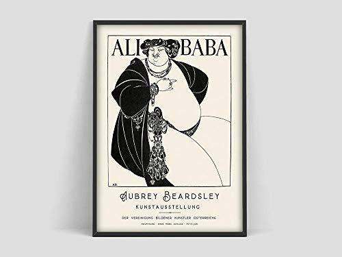 N / A Beardsley Alibaba Poster, Aubrey Beardsley Alibaba, Stampe di Aubrey Beardsley, manifesti Art Nouveau, Dipinti Decorativi Senza Cornice di Famiglie culturali francesi A85 40x60cm