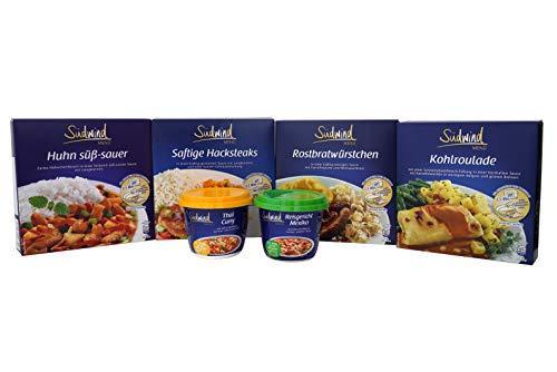 Unsere Schlemmervielfalt - verschiedene Fertiggerichte für die Mikrowelle / Wasserbad - Lebensmittelvorrat - keine Versandkosten - Südwind Lebensmittel
