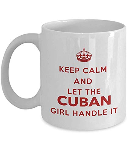 Taza cubana-Mantenga la calma y deje que la niña cubana lo maneje-Taza de café-Regalo único para cubanos