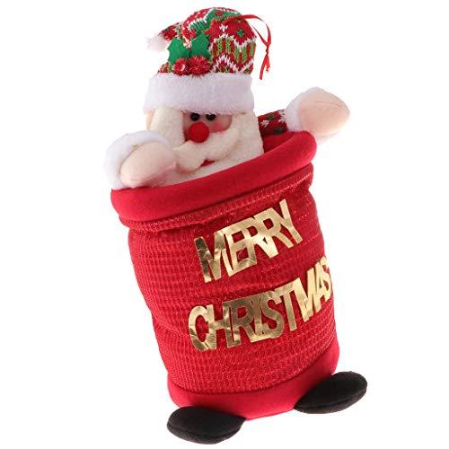 lesiya Lindo Papá Noel Muñeco De Nieve Cubo De asura Cubo De asura Decoraciones Colgantes De Navidad   Santa