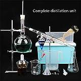 Bbhhyy Soporte del Tubo De Condensación 1000ml Conjunto Destilación Equipo De Enseñanza De La Química Tubo De Ensayo Lámpara De Alcohol Cristalería Suministros De Equipo De Laboratorio Calefacción